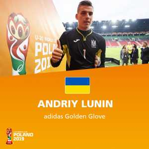 Andriy Lunin wins the U20 World Cup Golden Glove