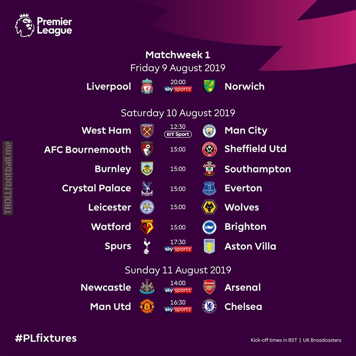 🚨 Announce Premier League fixtures! 🚨  Which 2019/20 match are you most excited for?