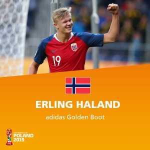 Erling Braut Haaland wins the U20 World Cup Golden Boot