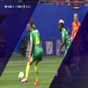 G. Ngo Mbeleck (Cameroon) Yellow card for high boot against Netherlands 37'