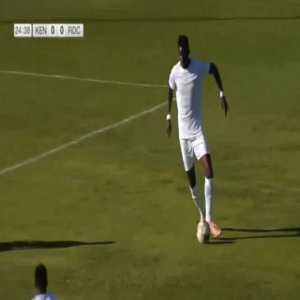 Kenya 1-0 D.R. Congo - Michael Olunga 25'