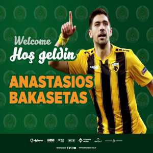 Official: Alanyaspor sign Greek midfielder Anastasios Bakasetas from AEK Athens