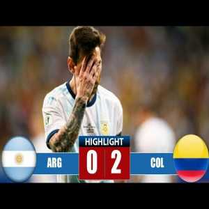 Argentina vs Colombia 0-2 Highlights