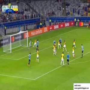 Uruguay 2-0 Ecuador - Cavani