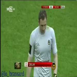 April 2013, Jan Oblak sees a red card in Porto - Rio Ave being replaced by Ederson Moraes