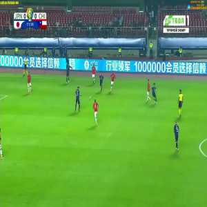 Kubo's nutmeg against Chile in Copa America