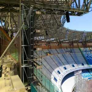 Giant screens have been installed at Stadio San Paolo from Naples