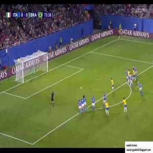 Italy W 0-1 Brazil W - Marta penalty