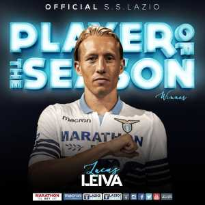 Lucas Leiva has been voted as Lazio's player of the seasono