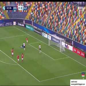 Denmark U21 1-0 Austria U21 - Joakim Maehle 33