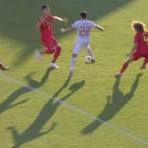 Spain U21's Pablo Fornals skill against Belgium U21