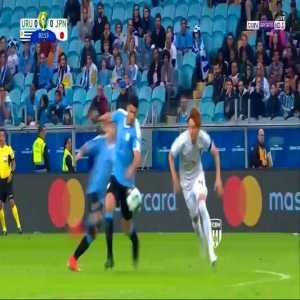 Luis Suarez attempt vs Japan - 1'