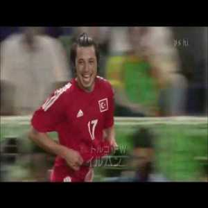 17 years ago, the 2002 World Cup, Besiktas winger Ilhan Mansiz scores the golden goal against Senegal to advance Turkey to the semi-finals.