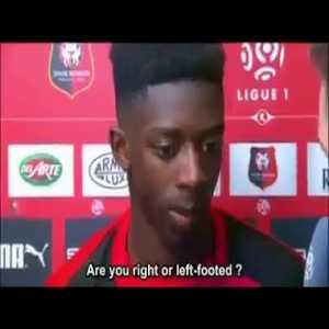 Legendary Ousmane Dembele interview.