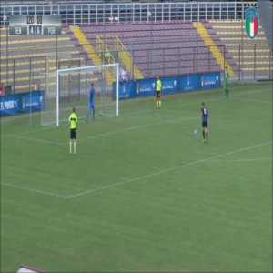 Pordenone U17 goalkeeper Andrea Plai scores a header in the 95th minute & then saves a decisive penalty to win his side the League Title