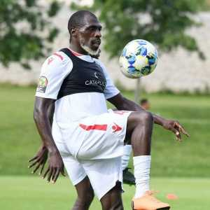 26-year-old Joash Onyango trains with the Kenya national team in Egypt.