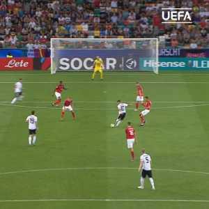 Luka Waldschmidt stunning Goal vs Austria ( U21 Euro Cup, Germany vs Austria)