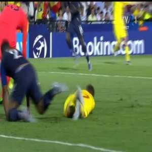 Romania U21 penalty shout against France U21