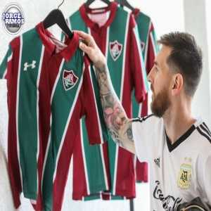 Brazilian Giants Flumenense honors Leo Messi by giving him a kit with his name and number on it