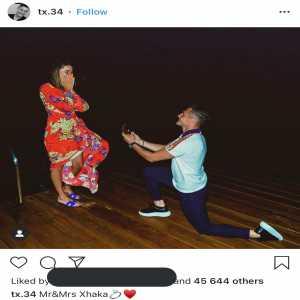 Xhaka's romantic proposal to his girlfriend. He said yes!