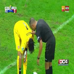 Luis Suarez (Uruguay) annulled by VAR goal vs Peru 74'