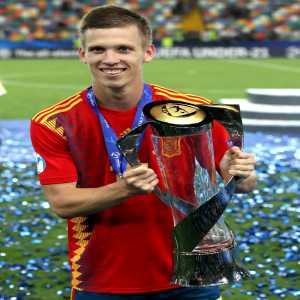 """Dani Olmo wins """"Man of The Match"""" award in the final game of Euro U21 Spain - Germany, his total stats this tournament (3 goals, 1 assist in 4 games)"""