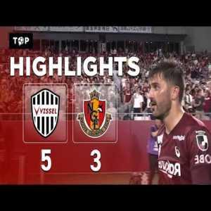 Vissel Kobe 5-3 Nagoya - Goals and Highlights (2 goals by Iniesta and another 2 by David Villa)