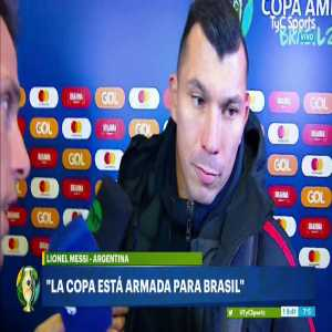 """Medel: """"I agree with Messi, didn't even think we'd get a yellow for it. There were a few shoves but that was it, the referee could've handled that a lot better"""""""