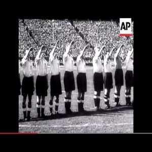 England vs Germany soccer match in Berlin in 1938