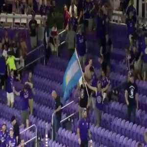 Opposing Club NYCFC decide to take Penalty Shootout on opposite end of Supporter Section (The Wall) - chaos ensued as Orlando City SC supporters ran through security to fill the other side to rally their Club to win and on to the Semifinals of the US Open Cup. First in Club history.