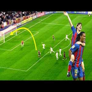 Lionel Messi's First Goal For Barcelona (HD)