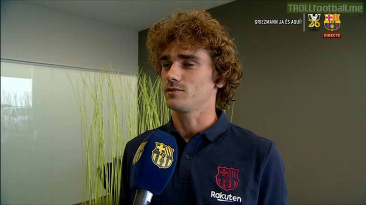 "Antoine Griezmann: ""I'm excited to get started at Barcelona and play Fortnite with Lionel Messi."""