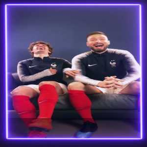 Griezmann: Although he's not a defender N'Golo is the most complicated defender on the French NT. Giroud: And I was dribbling past him during the World Cup and he followed me! I could feel his breath and he's running with his little legs!