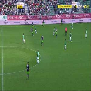 St. Gallen 0 - [1] Sporting CP: Bruno Fernandes 2'