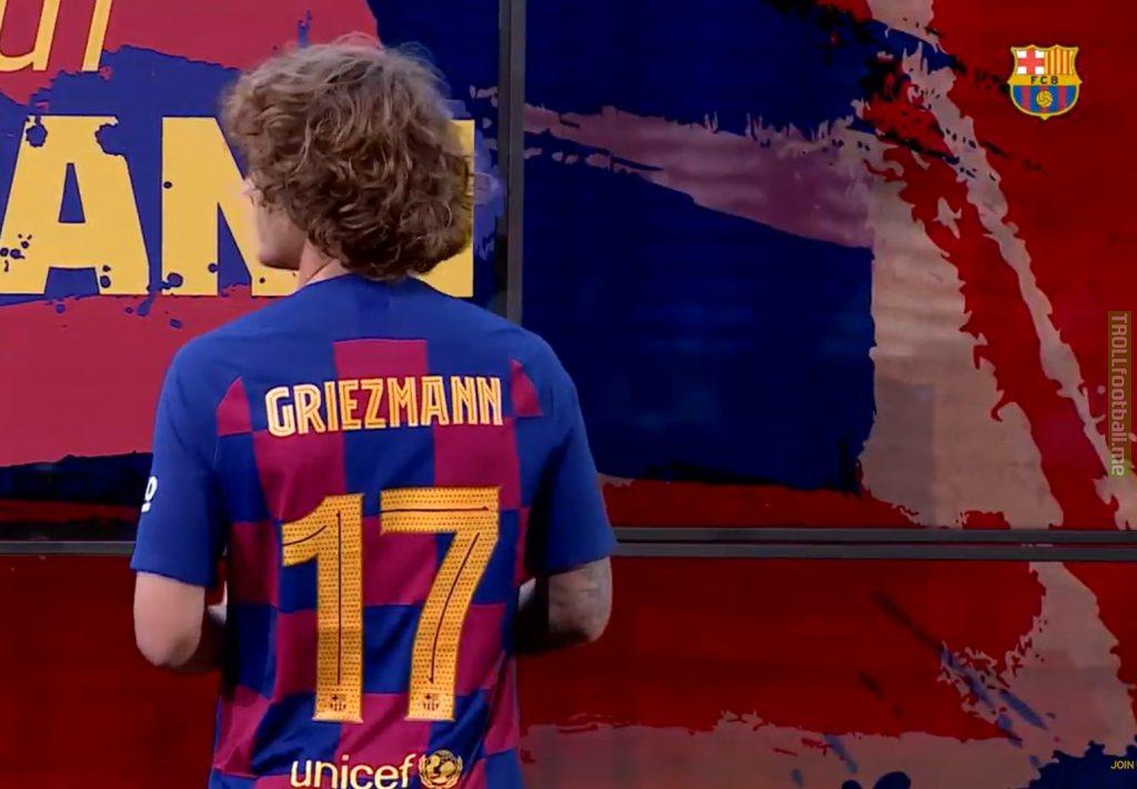 Griezmann takes the No. 17 shirt