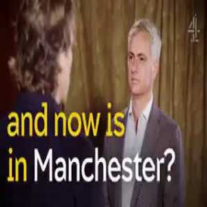 Jose Mourinho and John Bishop try to make each other laugh