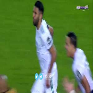 Mahrez's goal with Arabic commentary featuring Algerian commentator crying