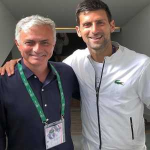 """Novak Djokovic on Twitter: """"Asked this legendo for a picture yesterday after my match 🙌🏼👏🏼 #josemourinho"""""""
