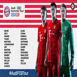 Alphonso Davies cuts his vacation short and joins the Bayern team on their trip to the US!