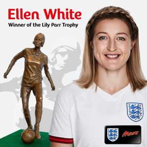 England and Man City forward Ellen White awarded the Lily Parr Memorial trophy