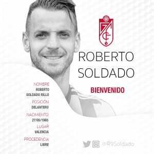 [Official] Granada CF announce signing of Roberto Soldado