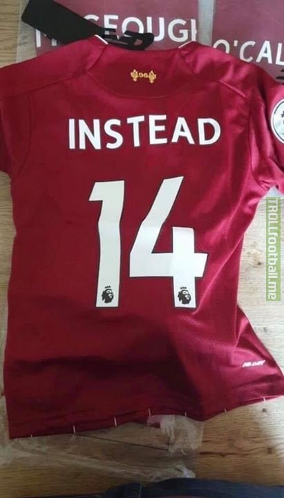 A Liverpool fan ordered a number 9 by mistake on the back of his shirt and asked for a number 14 instead, this is what he received back! 😂😂