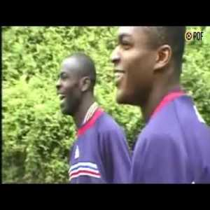 Desailly & Thuram discuss ways to stop Ronaldo before the '98 WC Final