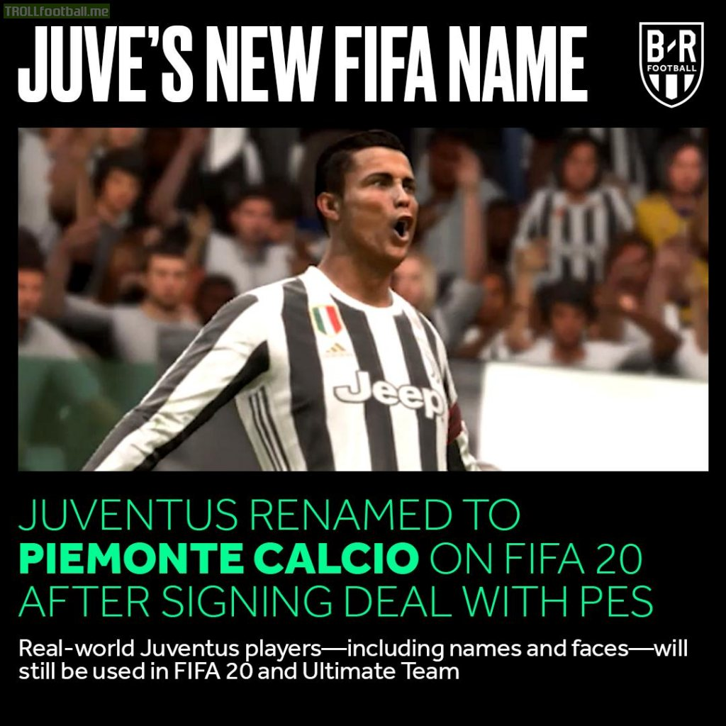 OFFICIAL: Juventus will be known as Piemonte Calcio in FIFA 20 !!