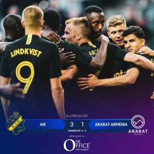 AIK have been qualified for the UEFA Champions League 2nd Round. Ararat-Armenia have been eliminated