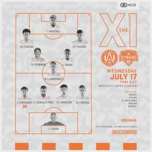 Atlanta United will play tonight's match vs Houston Dynamo with only 5 players on the bench