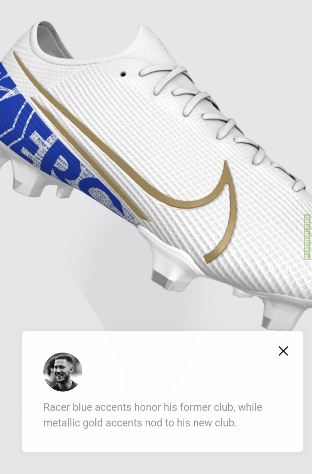 Hazard's new custom boots honouring Chelsea and Nod to Real Madrid