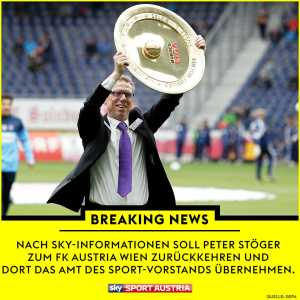 Sky Sport Austria sources: Peter Stöger returns to Austria Vienna
