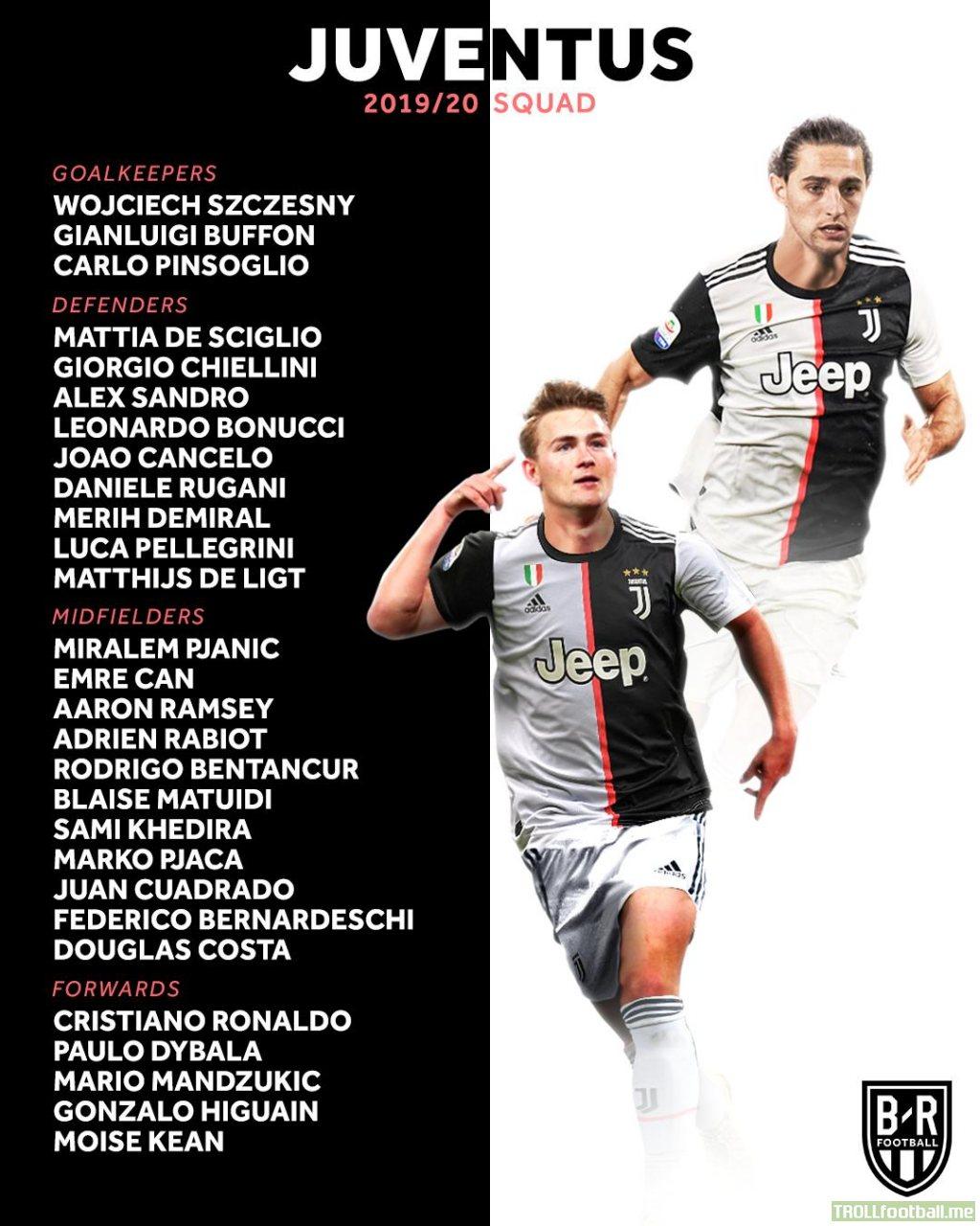 Juventus 19/20 squad (so far)