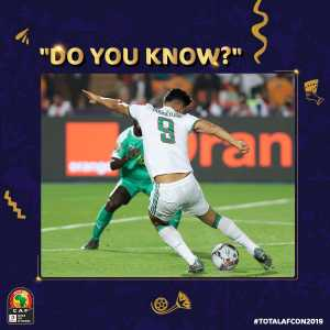 Algeria's AFCON run in 1990: 13 goals scored, 2 goals against. Oudjani scores both their first and last goals. Algeria's AFCON run in 2019: 13 goals scored, 2 goals against. Bounedjah scores both their first and last goals.